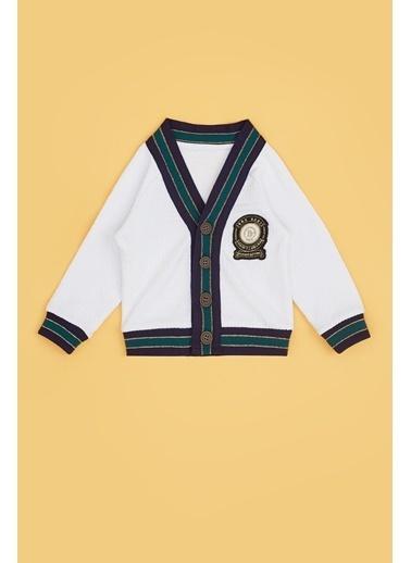 BG Baby Erkek Bebek Beyaz Hırka 20Pfwbg1703 Beyaz